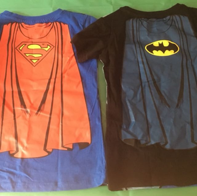 Size 5 Batman super man tees