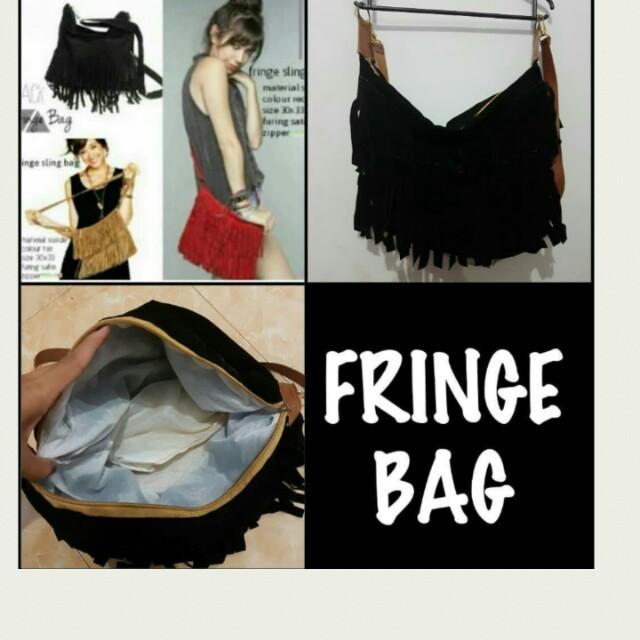 Sling bag fringe