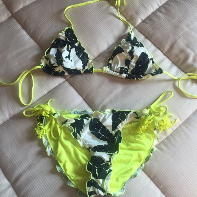 Stoked Floral Green Bikini Set
