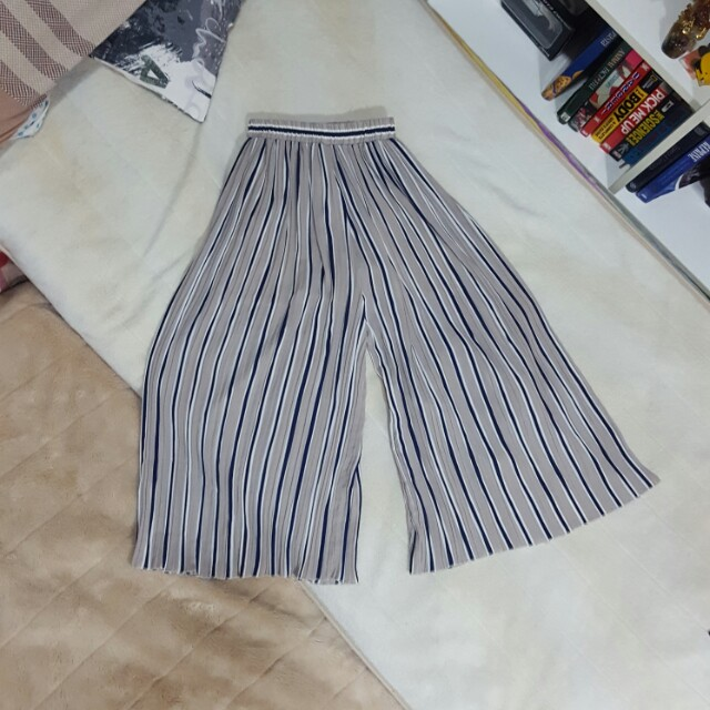Striped Culottes Pants (Chiffon)