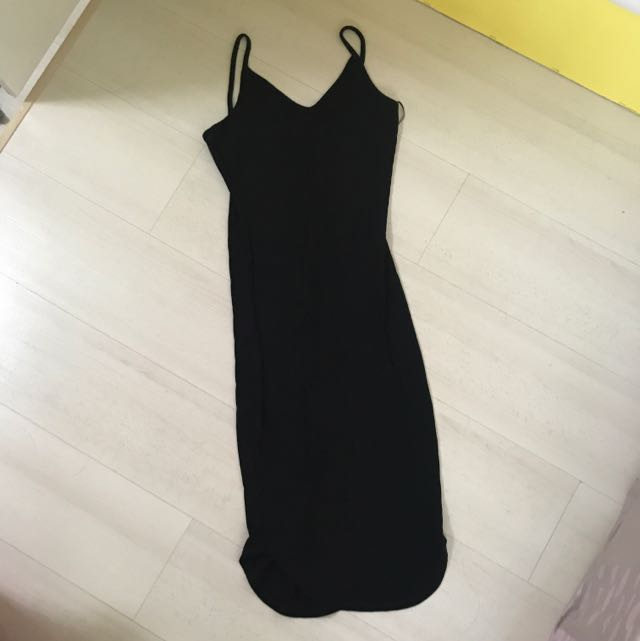 58da9292042 TEMT Ribbed Black Bodycon Dress
