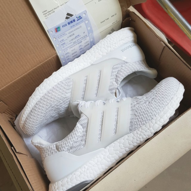 Ultraboost 3.0 Triple White (Brand New, Size US8.5 FR42, Ultra Boost)
