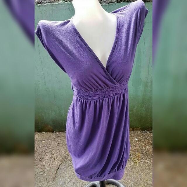Vneck Purple Sexy Dress
