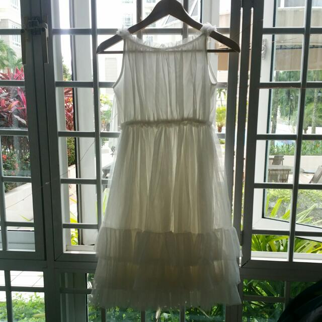 White Dress Small Size BloomB