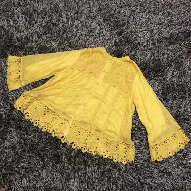 Yellow Blouse uk XL
