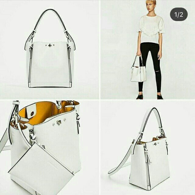 3774beb3 ZARA BUCKET BAG WITH ZIPS ORIGINAL