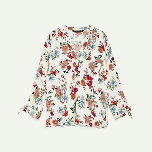 Zara inspired long sleeve blouse