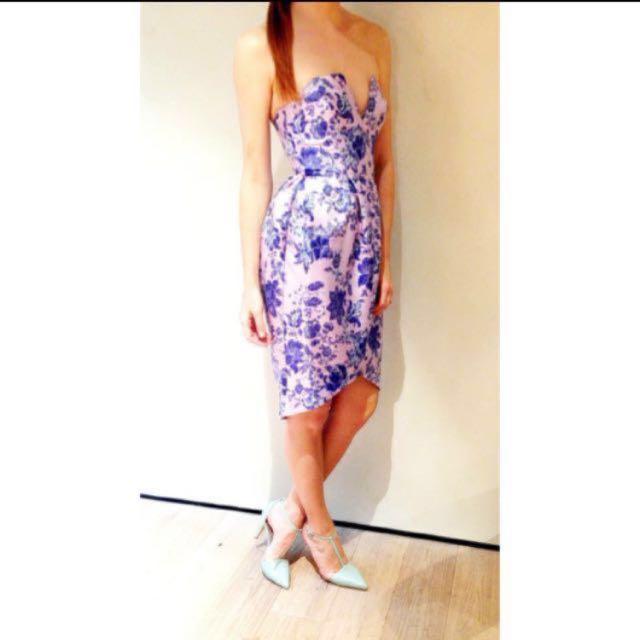 Zimmermann Precocious Brocade Strapless Dress (Size 0)