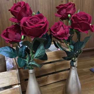 Artificial Red Roses - 30 stalks (like the real thing!)