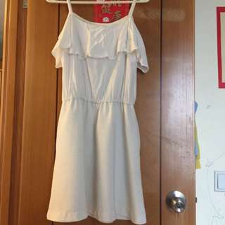 b+ab白色吊帶連身裙,原價799元買返來