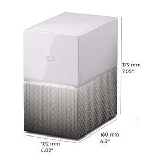 Western Digital 8TB (4TB × 2 RAID 1) My Cloud Home Duo Personal Cloud Storage (WDBMUT0120JWT-NESN)