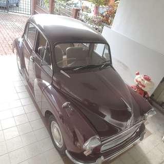 Morris minor for sale. 1975. Classic scheme.