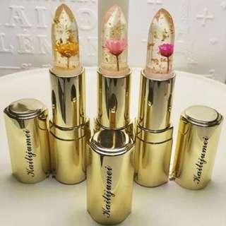 Kailijumei Jelly Flower Lipstick - Gold Casing