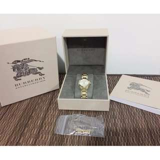 LIKE-NEW Authentic BURBERRY Gold Watch