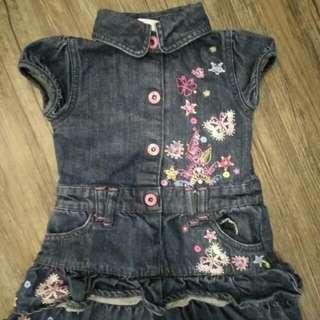 Butterfly jeans dress