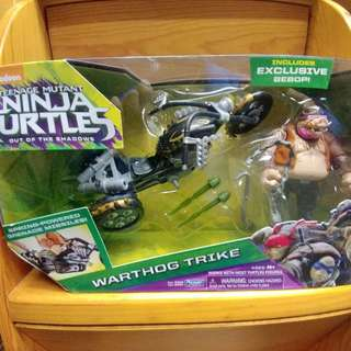 TEENAGE MUTANT NINJA TURTLES WITH EX3 BEBOP : WARTHOG TRIKE 忍者龜 ( not Marvel Legends, DC)