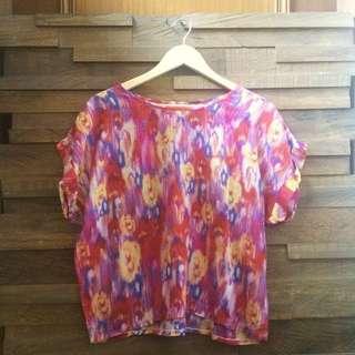 😍 Zara Inspired Color Ikat Print Top