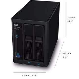 Western Digital 8TB (4TB × 2 RAID 1) My Cloud PR2100 Pro NAS (WDBBCL0080JBK-NESN)
