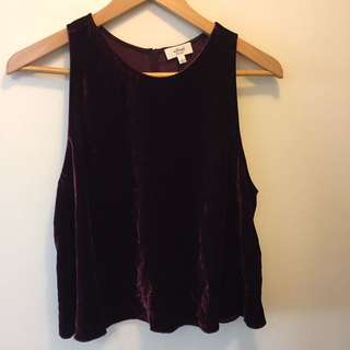 Wilfred purple velvet tank top