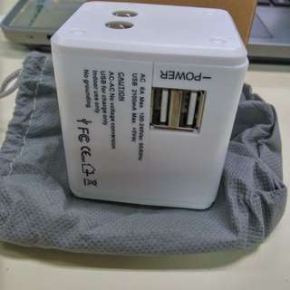 Universal Travel Adapter International (Dual USB)#XMAS25