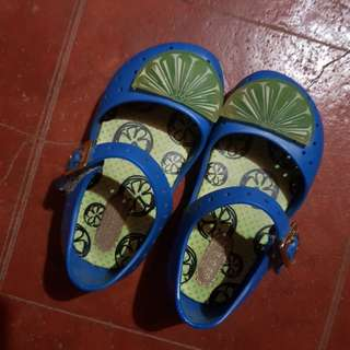 Mini Melissa Authentic Furadinha Sandals Mary Jane s7 Blue