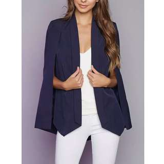 Navy Blue Cape Blazer