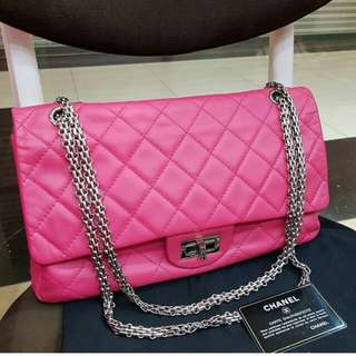 AUTHENTIC CHANEL 2.55 REISSUE FLAP BAG IN LAMBSKIN LEATHER