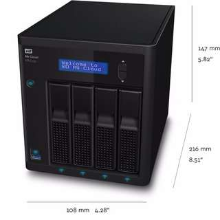 Western Digital 0TB My Cloud PR4100 Pro NAS Diskless (WDBNFA0000NBK-NESN)