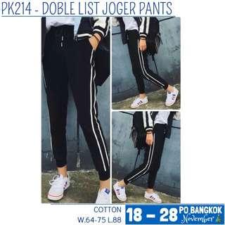 Jogger double list