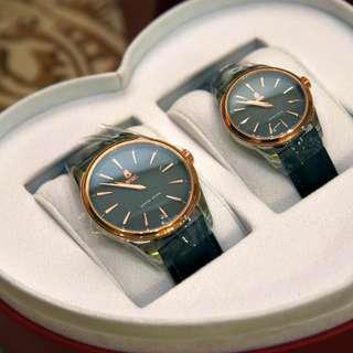 依波路特別禮品裝珍藏版復古情侶手錶