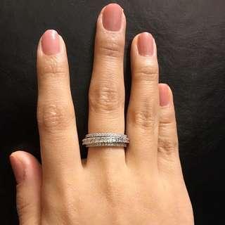 特別款 碎鑽 戒指 粗線戒 仿鑽石 ring faux diamond crystal