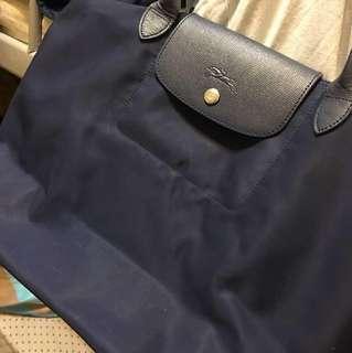 🚚 Longchamp 正品大長柄  深藍(有使用痕跡)
