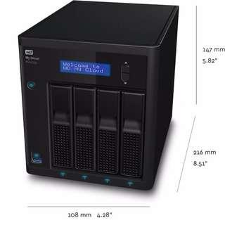 Western Digital 8TB (4TB × 2 RAID 5) My Cloud PR4100 Pro NAS (WDBNFA0080KBK-NESN)