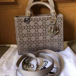 Authentic Christian Dior Lady D Cannage Bag