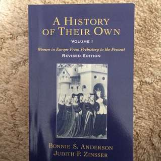 A history of their own (Women's history) Vol 1