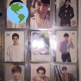 Exo suho, exo yixing photocards.