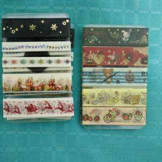 Christmas Washi Tape Samples