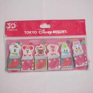 日本版 Tokyo Disneyland Christmas Snowman Rubber Set聖誕節雪人擦膠套裝