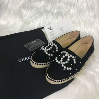 Size 36 Chanel Espadrille Pearl