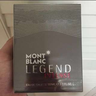 Brand New Sealed Authentic Mont Blanc Legend Intense EDT 100ml - Not Tester Set