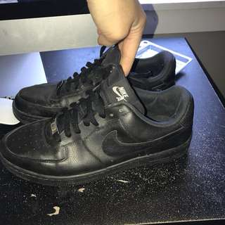 Women's black Air Force 1s