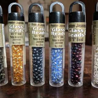 Glass seed beads lot of 6
