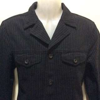 Black vertical line coat