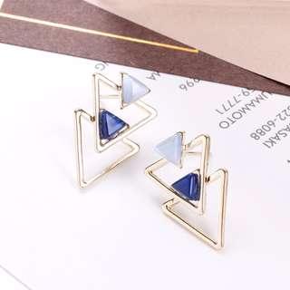 [NEW] Double Triangles Earrings