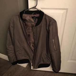 Olive green forever 21 bomber medium