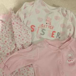 Baju From UK Baby Girl Bundle Sleepsuit