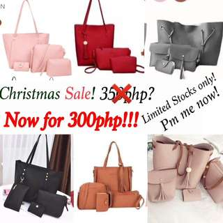 CHRISTMAS SALE!!!! 4 in 1 Bags