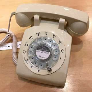 BRAND NEW- Vintage Style  IVORY Rotary Telephone now with REDIAL MODE- Works with landlines and fibre optic lines