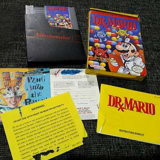 NES nintendo Dr Mario  with box and manual