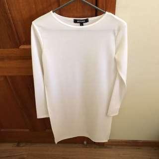 White long sleeve- split side top